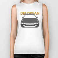 delorean Biker Tanks featuring DeLorean DMC–12 by Vehicle