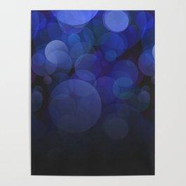Blue Circles abstract design Poster