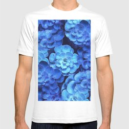 Succulent Plants In Blue Tones #decor #society6 #homedecor T-shirt