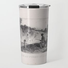 Hunting a Ferret with Blanks, from the series Hunting Scenes,1829 Travel Mug