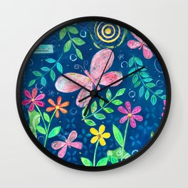 Beauty in the Darkest Night Wall Clock