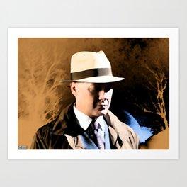 Raymond Reddington   Washes away the dust Art Print