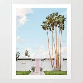 Pink Door in Palm Springs Art Print