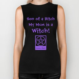 Son of a... my Mom is a Witch! Pagan Wiccan Wicca Biker Tank