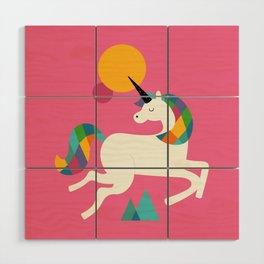 To be a unicorn Wood Wall Art