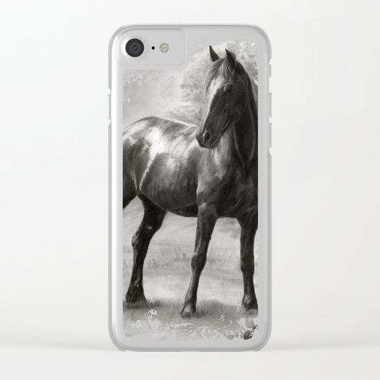 Horse V Clear iPhone Case