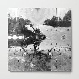 Summer space, smelting selves, simmer shimmers. [extra, 7, grayscale version] Metal Print