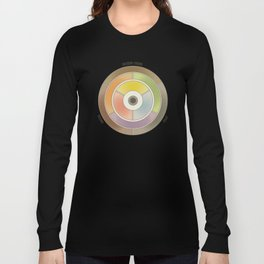 The theory of colouring - Diagram of colour by J. Bacon, 1866, Remake, vintage wash (with text) Long Sleeve T-shirt
