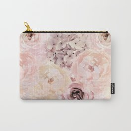 Midsummer Roses- Vintage Rose Pattern Carry-All Pouch