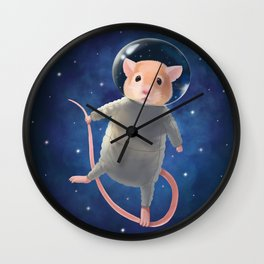 Mouse Astronaut Wall Clock