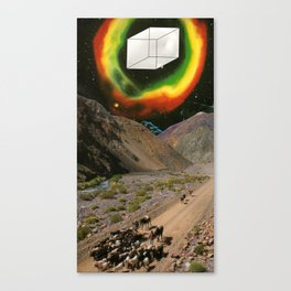 Space Cowboys 2 or Oh Fuck There Is A Giant Cube Coming Near Us Canvas Print