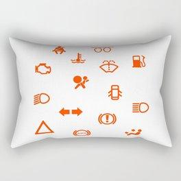 Vehicle Dash Warning Symbols Rectangular Pillow