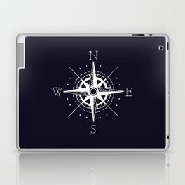 Navy Nautical - White Compass Laptop & iPad Skin