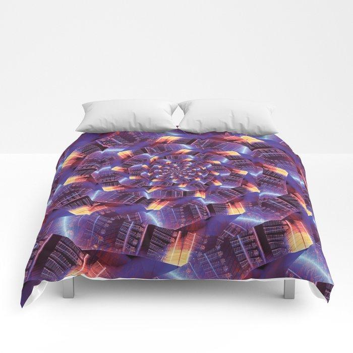 Spiraling Circuits Comforters