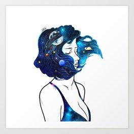 blowing  universe mind. Art Print