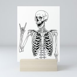 Rock and Roll Skeleton Mini Art Print