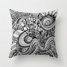 White Knuckled Scream Throw Pillow