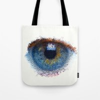 iris Tote Bags featuring Iris by Paul Kimble