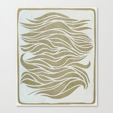 Wave Lines Woodblock Canvas Print