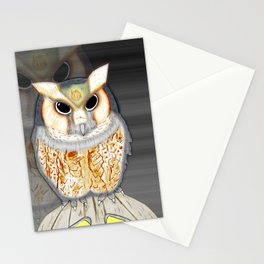 Conceptualized Owl Stationery Cards