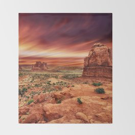 Arches at Sunset Throw Blanket