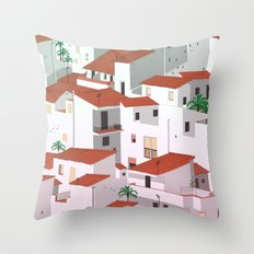 Sunset in my town Throw Pillow