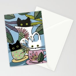 Tea Party of the Cats Stationery Cards