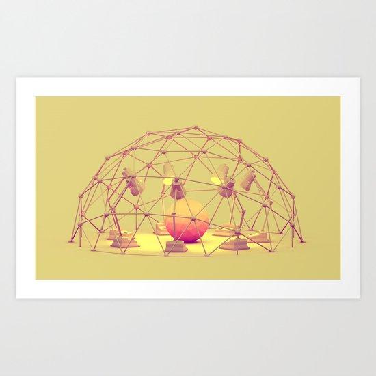 Lamp Meeting Art Print