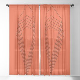 Throne - Black and Red Sheer Curtain