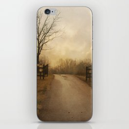 Uphill at Sunrise iPhone Skin