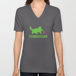 House Tiger, Cat Unisex V-Neck