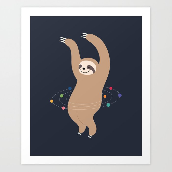Sloth Galaxy Art Print