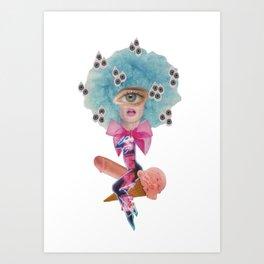 Cotton Candy Goddess Art Print