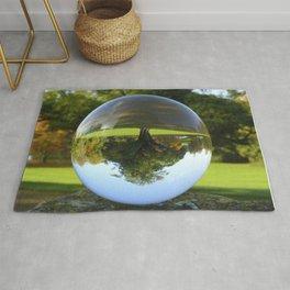 Old Park Tree, crystal ball / Glass Ball Photography Rug