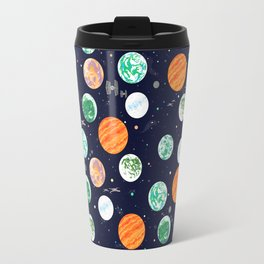 Galactic Planets, Stars, Tie Fighters, and X-Wings Brighter Travel Mug
