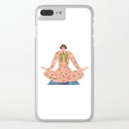 Healing with Nature Clear iPhone Case