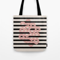 tangled Tote Bags featuring tangled by spinL