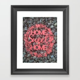 Paper-cut Home sweet home Framed Art Print