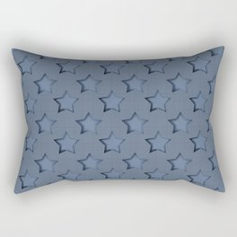 "Blue denim ""Stars"". Rectangular Pillow"