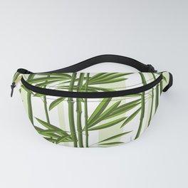 Green bamboo tree shoots pattern Fanny Pack