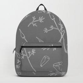 California Poppies | In Grey Backpack