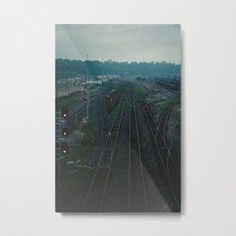 Fog on the tracks Metal Print