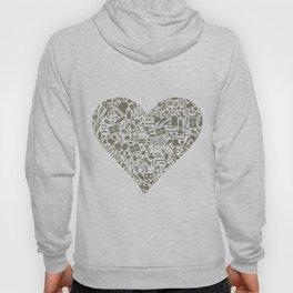 Art heart Hoody