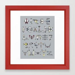 A-Wing to Z-Wing Framed Art Print