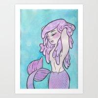 hair problems Art Print