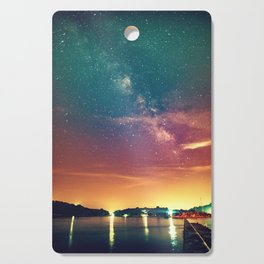 Milky Way Colorful Sunset Cutting Board