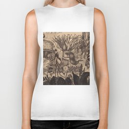 Confessing to the old tree Biker Tank