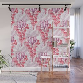 Vortex Floral Pattern from the Impossible Florals Series Wall Mural