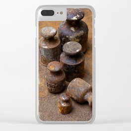 Old weights for scales Clear iPhone Case