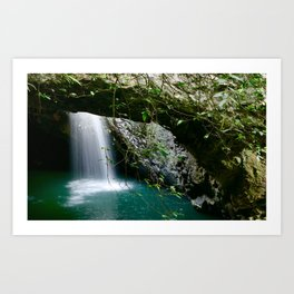Natural Bridge Waterfall Art Print